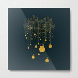 Light Bulb City skyline Metal Print