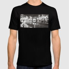 bus stop Mens Fitted Tee SMALL Black