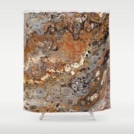 Earth Tones Lava Flow Shower Curtain