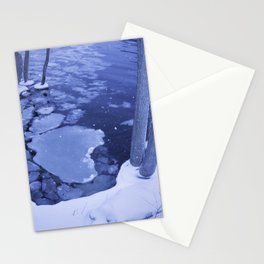 Water And Ice Surround Young Trees Stationery Cards