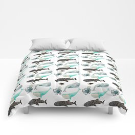 Whales and friends Comforters