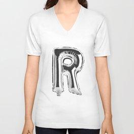 Letter R Unisex V-Neck