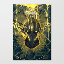 Pouring in gold. Canvas Print