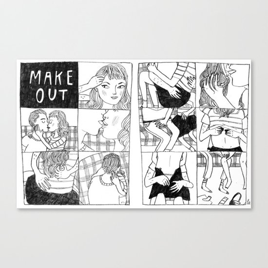 Make Out Canvas Print