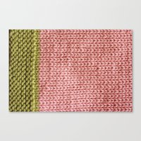 knit Canvas Prints featuring Knit by Melissa Jackson