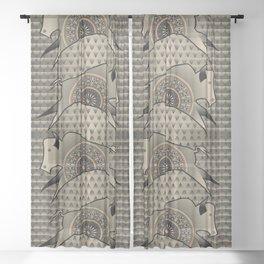 Buffalo Running (Gray) Sheer Curtain