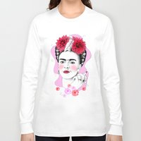 frida kahlo Long Sleeve T-shirts featuring Frida Kahlo by sarah illustration