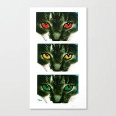 CAT CROSSING Canvas Print