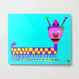 Caterpillar in Sneakers Metal Print
