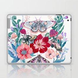 Floral moth painting Laptop & iPad Skin