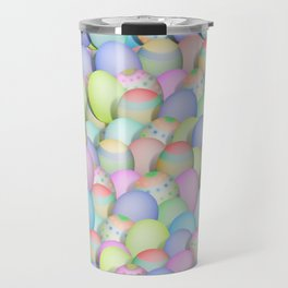 Pastel Colored Easter Eggs Travel Mug