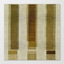 """Burlap Texture Greenery Columns"" Canvas Print"