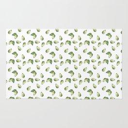Watercolour Avocado Pattern Rug