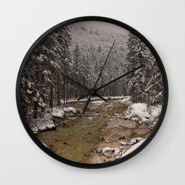 Wintry Sava River At Vrata Valley Wall Clock