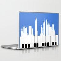 new york Laptop & iPad Skins featuring New York, New York by mark ashkenazi