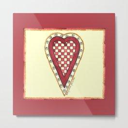 My Checkered Heart Metal Print