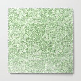William Morris - Marigold Pattern - Green Metal Print