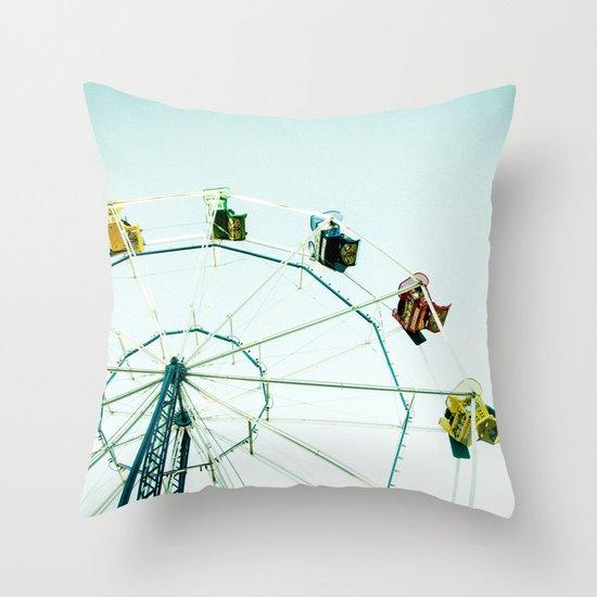 Green Bay Ferris Wheel Throw Pillow