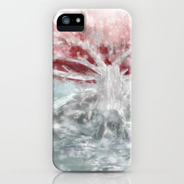 The Old -Tree in the Snow iPhone Case