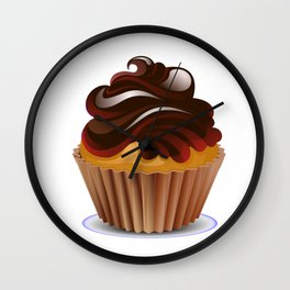 Chocolate Cupcake Wall Clock