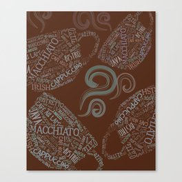 Language of Coffee 2 Canvas Print