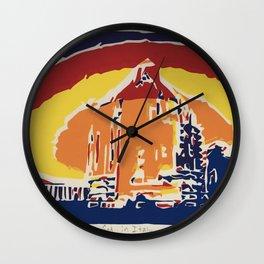 God in Italy Wall Clock
