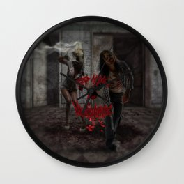 Valentines Day Zombie Couple Wall Clock