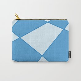 Geometric abstract - blue. Carry-All Pouch