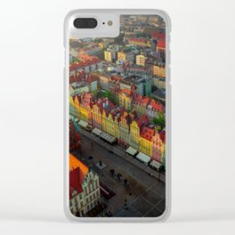 Colorful houses in Wroclaw, Poland Clear iPhone Case