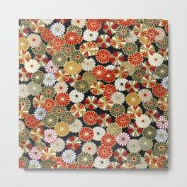 Golden Chrysanthemums Metal Print