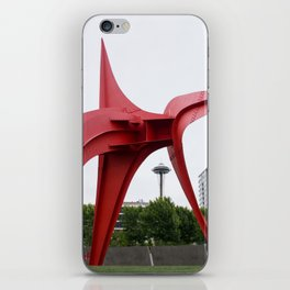 RED needle iPhone Skin