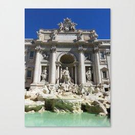 Fontana di Trevi al sole Canvas Print