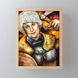 """""""Picture it: Sicily 1061"""" Golden Girls- Bea Arthur Framed Mini Art Print"""
