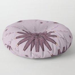 ethnic snowflake Floor Pillow