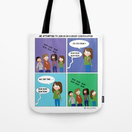 Group Conversations Tote Bag