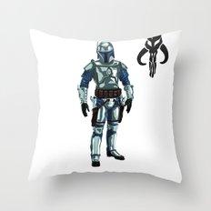 Jango Fett Throw Pillow