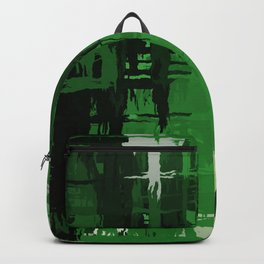 Aromantic Pride Rough Crosshatched Paint Strokes Backpack