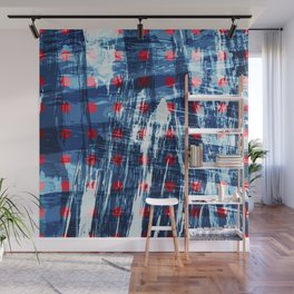 dots on blue ice Wall Mural