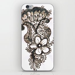 15. Henna Flower and Leafs iPhone Skin