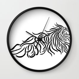 Komondor Tribal Wall Clock