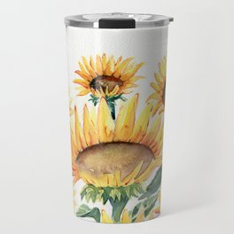 Sunflowers Love Travel Mug
