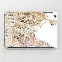 dublin iPad Cases featuring Dublin map by Mapsland