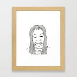 Beautiful African woman with twist braids Framed Art Print