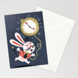 White Rabbit - Alice in Wonderland Stationery Cards