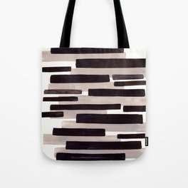 Grey Primitive Stripes Mid Century Modern Minimalist Watercolor Gouache Painting Colorful Stripes Wa Tote Bag