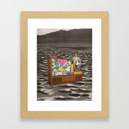 TV Man Framed Art Print