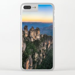 Three Sisters Sunrise View in Blue Mountains, Australia Clear iPhone Case