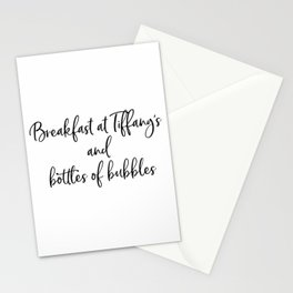 Ariana G. Poster, 7 Rings, Breakfast at Tiffany's and bottles of bubbles Stationery Cards