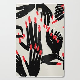 hands, fingers, nails & fingernails Cutting Board