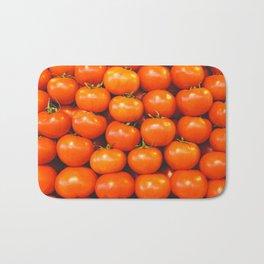 Vintage organically homegrown heirloom tomatoes illustration pattern Bath Mat